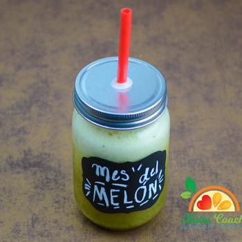 Batido de melón. Rinde para 1 porción