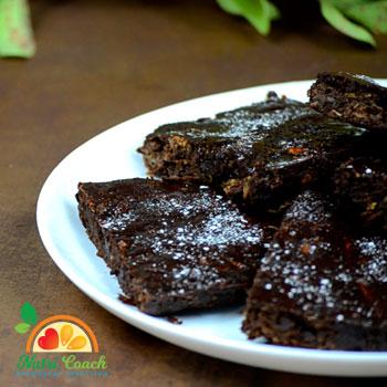 Brownies de zuchini y chocolate. Rinde para 12 porciones