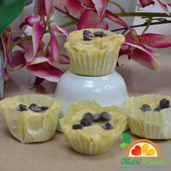 Muffins de helado de banano