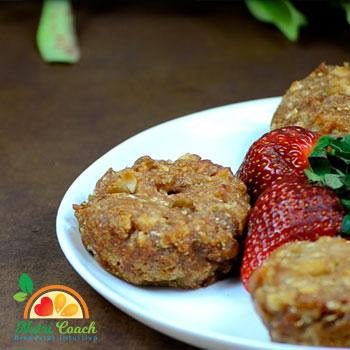 Muffins de manzana y coliflor. Rinde para 24 porciones