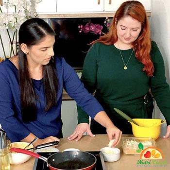 Pastel de quinoa con camote
